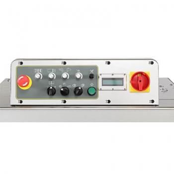 TP-702YAM - влагозащищенная машина для обвязки ПП лентой с ременным конвейером